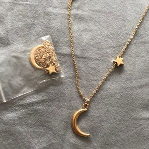 BRAND NEW moon an star necklace